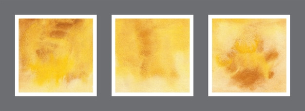 Collection de fond aquarelle abstraite jaune