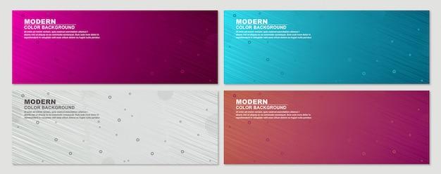 Collection de fond de bannière de jeu géométrique