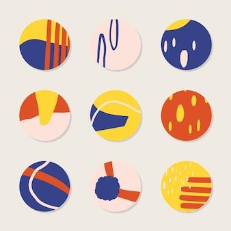 Collection de fond coloré abstrait