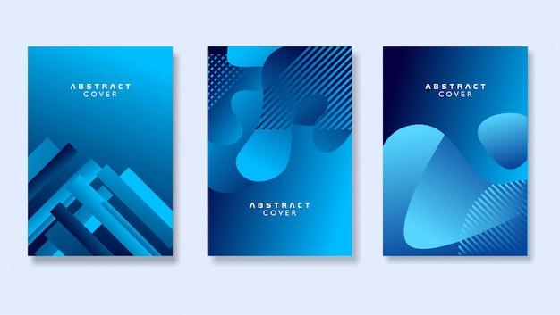 Collection de fond de couverture abstraite moderne