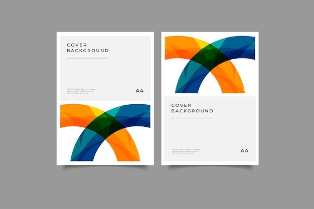 Collection de fond de couverture géométrique
