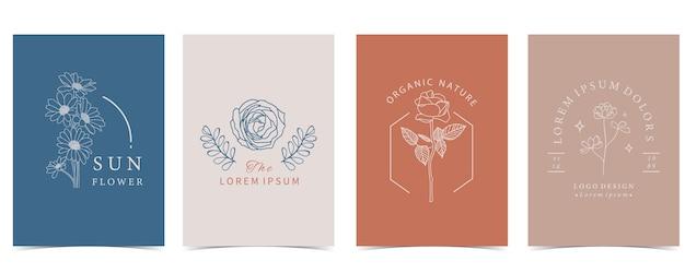 Collection de fond de fleur sertie de fleur, rose, forme.