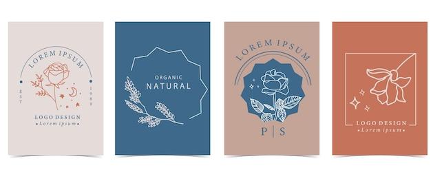 Collection de fond de fleurs sertie de lavande, fleur, rose, forme.