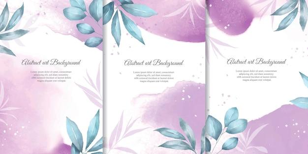 Collection de fond floral aquarelle peinte à la main