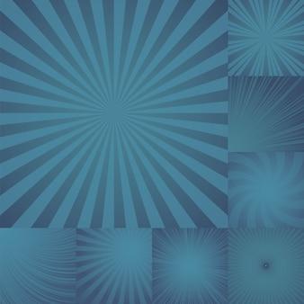 Collection de fond de rafale de couleur bleue