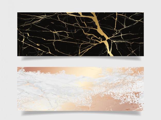 Collection de fond de texture de marbre de luxe