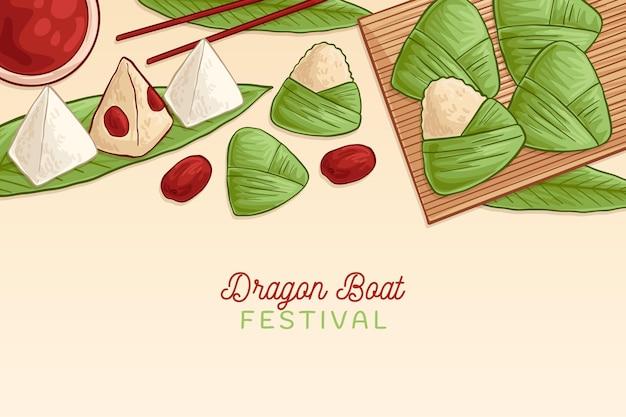 Collection de fond de zongzi du bateau dragon