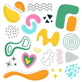Collection de formes abstraites colorées