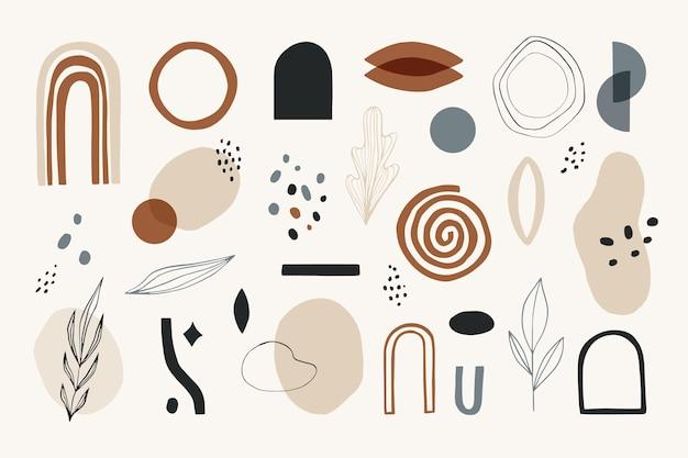 Collection de formes abstraites dessinées à la main