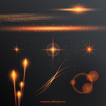 Collection de formes abstraites de flamme