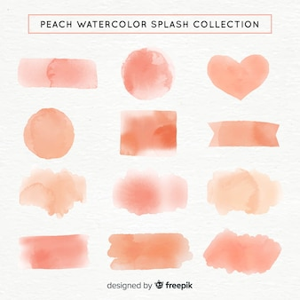 Collection de formes aquarelles