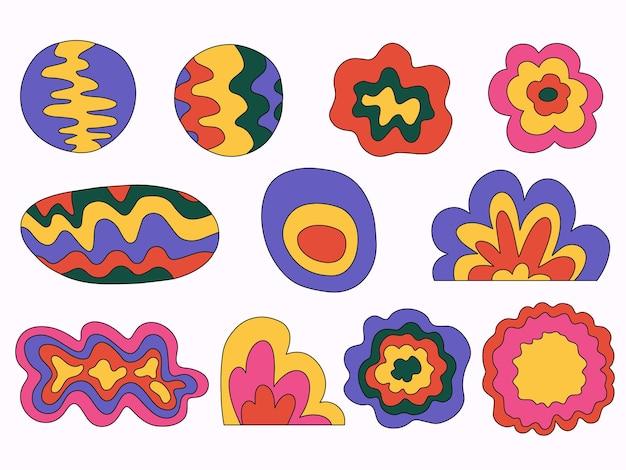 Collection de formes colorées abstraites