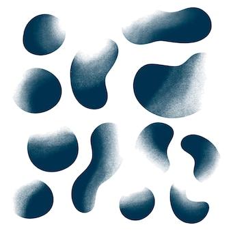 Collection de formes courbes granuleuses