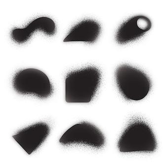 Collection de formes granuleuses dégradées