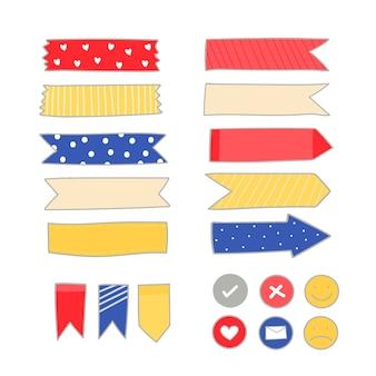 Collection de fournitures de papeterie colorée
