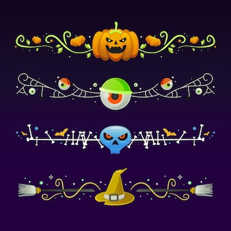 Collection de frontière du festival halloween