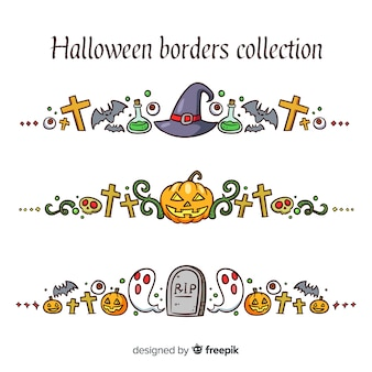 Collection de frontières d'halloween