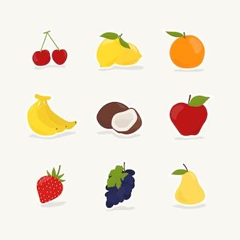 Collection de fruits et de baies