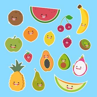 Collection de fruits de couleur