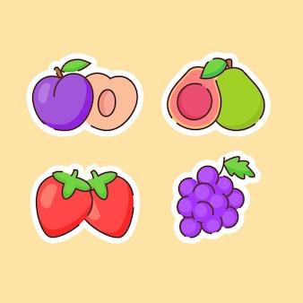 Collection de fruits isolé sur beige