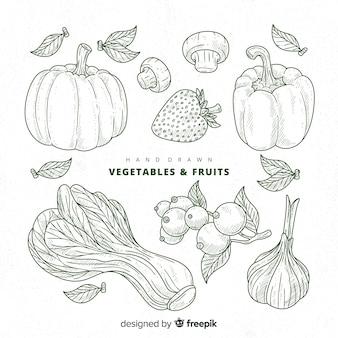 Collection de fruits et légumes