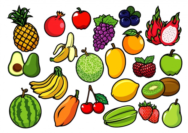 Collection de fruits