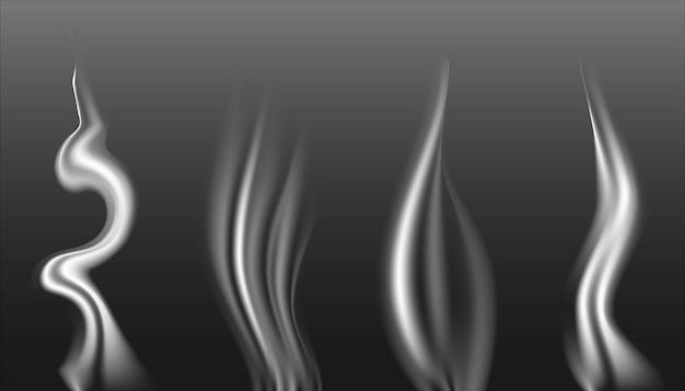 Collection de fumée abstraite sur gris