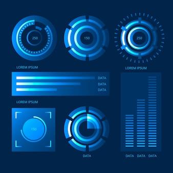 Collection futuriste d'infographie