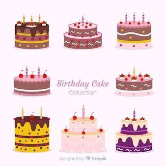 Collection de gâteaux d'anniversaire