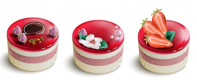 Collection de gâteaux aux baies