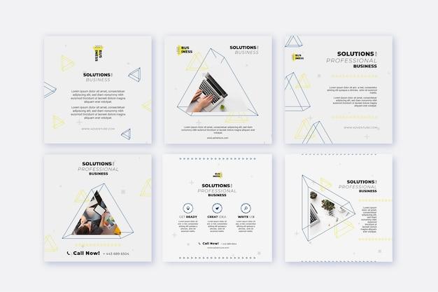 Collection générale de publications instagram d'entreprise
