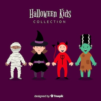 Collection de genres halloween dessinés à la main