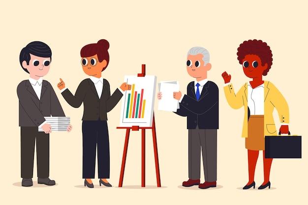 Collection de gens d'affaires de dessin animé