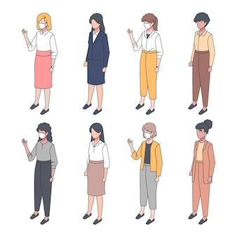 Collection de gens d'affaires isométrique