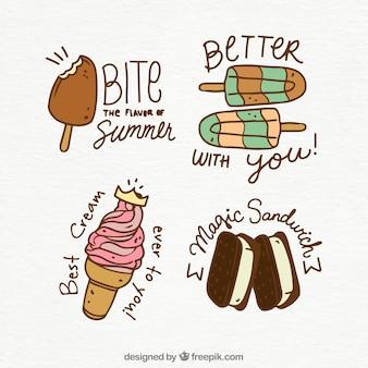 Collection de glaces avec devis