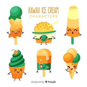 Collection de glaces kawaii