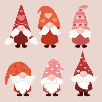 La collection de gnomes mignons et adorables