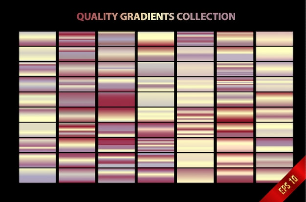 Collection de gradients de qualité modernes
