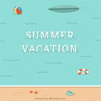 Collection graphique de vecteur d'été