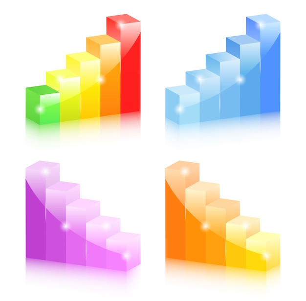 Collection de graphiques à barres colorés