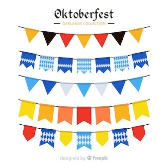 Collection de guirlande oktoberfest design plat