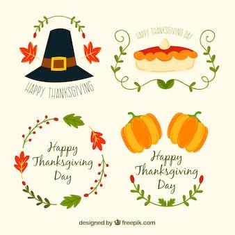 Collection de guirlande de thanksgiving