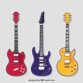 Collection de guitare multicolore