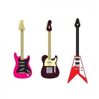 Collection de guitares électriques