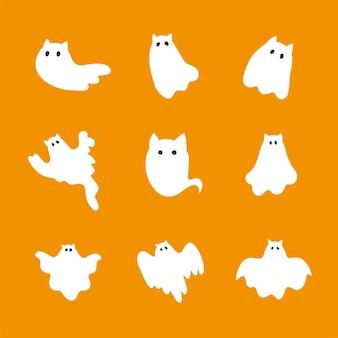 Collection halloween de chats fantômes effrayants drôles