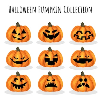 Collection halloween citrouille.