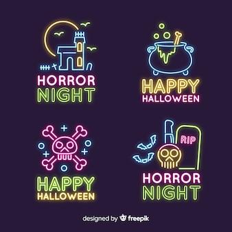 Collection halloween enseigne au néon