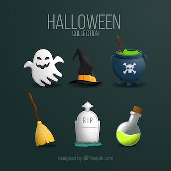 Collection halloween avec style moderne