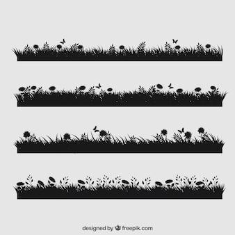 Collection d'herbe mignon