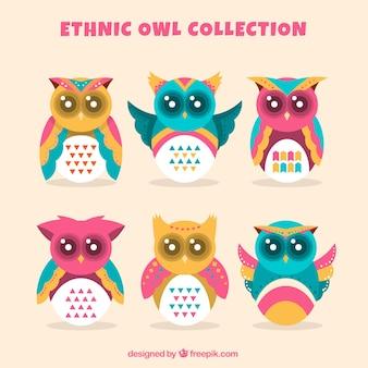 Collection de hiboux ethnique